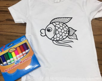 Coloring shirt for kids - Color Me T- Shirt