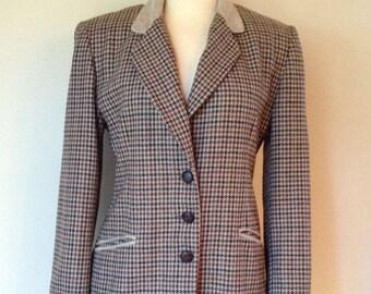 Vintage Tweed Blazer Jacket for Women  Size 34