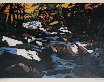 Hemlocks by Jon Carsman Serigraph 1980