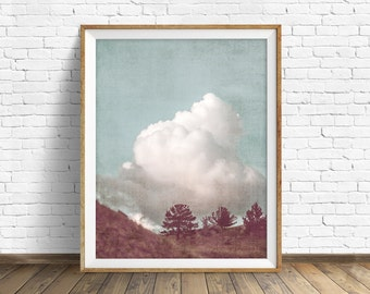 "landscape photography, instant download, printable art, large art, large wall art, printable wall art, rustic art, art - ""Happy Thoughts"""