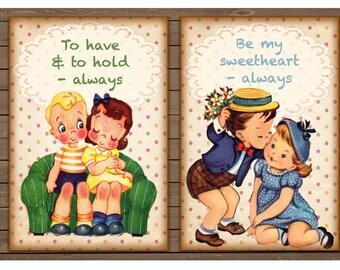 LOVE ALWAYS range of vintage signs for a loved one in metal or wood