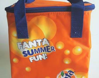 Fanta Orange Soda Soft Sides Cooler Bag For Picnic Beach Vintage Collectible Advertising