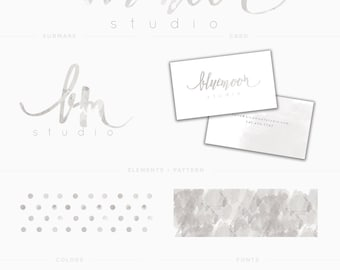 Premade Brand Kit - Premade Logo - Social Media Template - Blog Post Template - Bluemoon