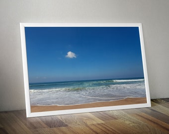 Perfect beach Bali, seascape and surfer. Large Oversized Photo Artwork Landscape