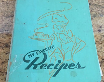 1950s Recipe Binder with Recipes