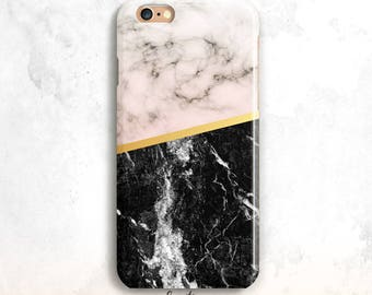 Marble iPhone 8 Case, iPhone 7 Case, Peach and Black Marble iPhone 7 Case, iPhone 6 Plus, iPhone 5S, Marble iPhone 6S Case, iPhone 6, 8 Plus