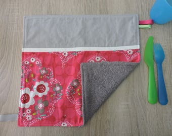 "napkin ""flower"" reversible cotton Terry"