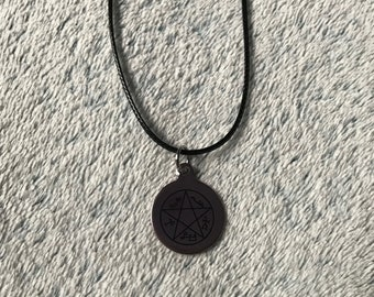 Devils Trap Witch Symbol Charm Necklace