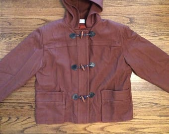 Vintage women's 1980's wool toggle button jacket. Size M