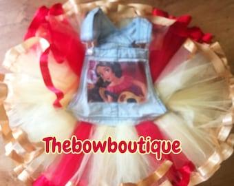elena of avalor overall ribbon trimmed tutu set