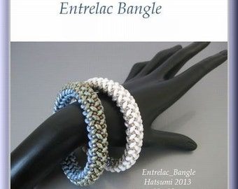 SuperDuo Beading Tutorial instructions patterns- PDF download- Entrelac/bangle
