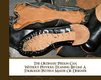 DESIGNING and CUTTING Boot and Shoe PATTERNS 147 Pages Complete illustrated Manual How To Make Shoes and Boots Digital Download Top Reviews