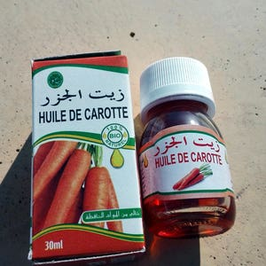 natural oil carrots of 30 ml. Morocco
