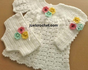 Dress, Headband and Knickers Baby Crochet Pattern (DOWNLOAD) 87