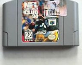Video Game Nintendo 64 N64 NFL Quarterback Club 98 Cartridge Only 1997