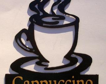 Cappuccino,Metal Art,Coffee Cup,Kitchen, Cafe,Espresso
