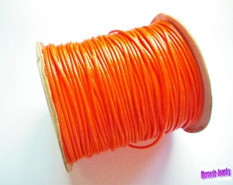 2 meters orange 2 mm waxed polyester cord