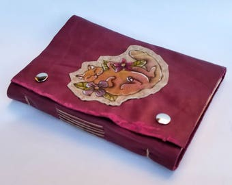 Adorable Kitten Handbound Leather Journal