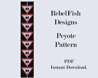 Loom PDF Patter. Hanging Triangles. Bead. Weaving