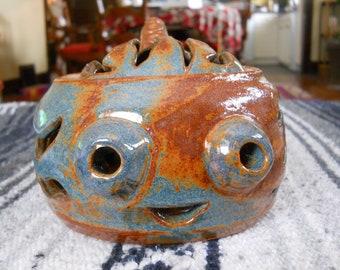 Happy Squid Candleholder