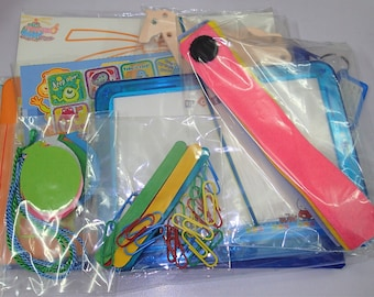 8 Activities Busy Bag For Toddler - Set C
