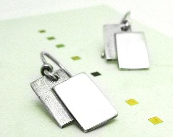 Double rectangle Earrings-sterling silver