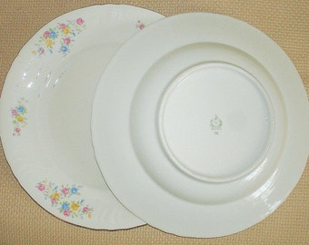 Antique Dinner Plate & Soup Bowl from 1930's Heinrich Winterling Bavarian Porcelain Construction Replacement Pieces