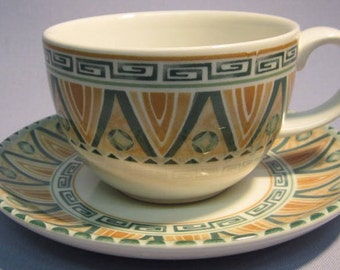 Crown Staffordshire Tunis Tea Cup and Saucer