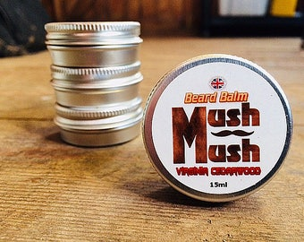 Mush Mush Virginia Cedarwood Beard Balm - Beard Care - Beard Softener - Natural Men's Hair Care Products - Leave in Beard Taming