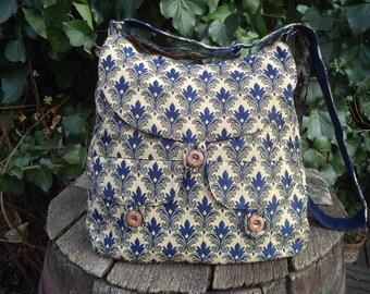 Gobelin buttoned big bag,messenger bag