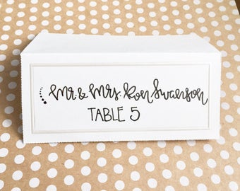 Set of 12 Custom Handlettered Place Cards, Favor Tags, Gift Tags, Wedding, Bridal Shower, Baby Shower, Party, Special Occasion
