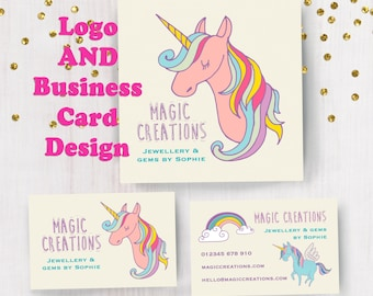 Personalised Magic Unicorn Logo and Business Card Design