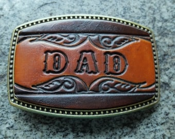 "Leather ""Name"" Buckle-Made to be personalized with up to 5 letters"
