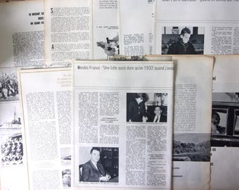 set of 10 pages of vintage magazine - french 50s/60s REF. 604
