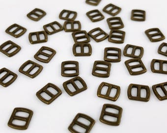B006A Old Metal Color Mini Buckles Sewing Craft Belt Purse Coat Doll Clothes Making Sewing Supply