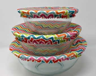 Reusable Bowl Covers, Colorful Chevron