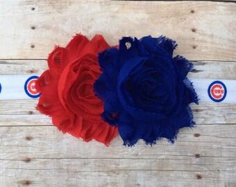 Chicago Cubs Headband // Baby Headband // Baby Hair // Baseball // Cubs // MLB // Go Cubs Go // Cubs Accessory // Cubs Headband // Cubs Hair