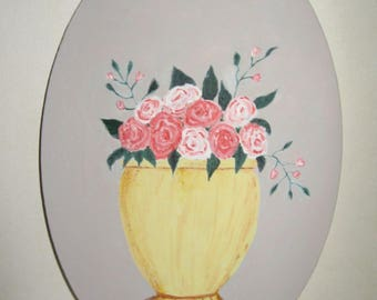 Free shipping! Painting Pink Medallion