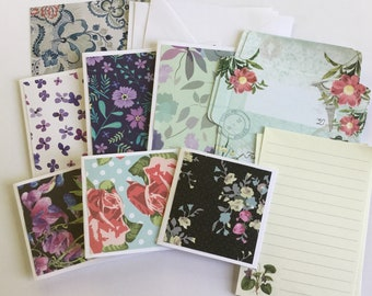 Floral cards, flower patterns, blank cards, flower stationery, thank you cards, note cards, gift cards