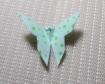 100 Paper Origami Butterflies_Light Green Pattern, 4  x 4 inches (10 x 10 cm) only for  8.00 USD