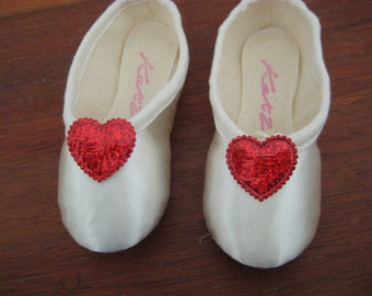 Red Heart Flowergirl Shoe Clips FREE SHIPPING