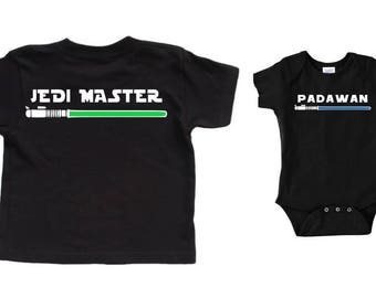 Star Wars Shirts Daddy and Baby Matching Daddy and Son Shirts Jedi Master and Padawan Star Wars Baby Star Wars Father Son Daddy Jedi Padawan