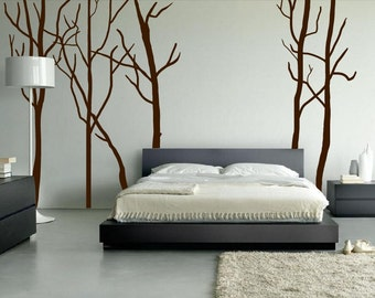 Large Wall Tree Decal Forest Kids Vinyl Sticker Removable 1115 (8 foot tall)