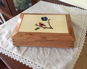 Cherry Box with Tapered Sides