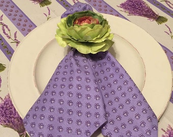 French Napkins, Lavender Mini Floral Napkins