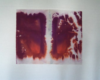 Hand dyed 100% cotton fabric, OOAK