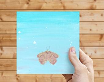 Copper Wings - ORIGINAL 6x6 Acrylic on Canvas Board