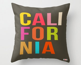 California Pillow - Decorative pillow cover -  Chicago pillow cover - Los Angeles pillow case  - Florida Pillow