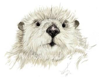 Motiv-Grußkarte Ottermutter (14,9 x 10,5 cm) Klappkarte, ohne Text