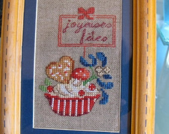 Small table basket happy holidays